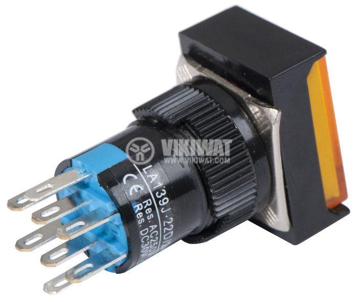 Button Switch type RAFI, LA139J-22D, 24VDC, DPDT - 2NO +2 NC - 3
