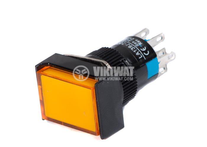 Button Switch type RAFI, LA139J-22D, 24VDC, DPDT - 2NO +2 NC - 2