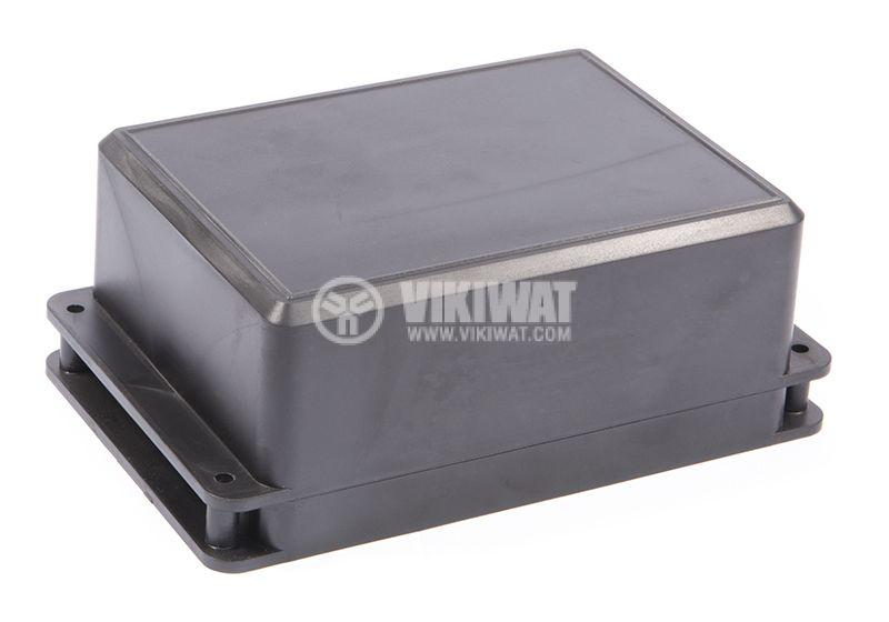 Кутия №12K пластмасова черна 104x85x52 - 1