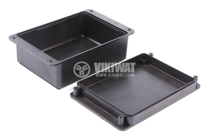 Кутия №12K пластмасова черна 104x85x52 - 2
