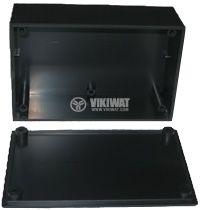 Кутия №2K пластмасова черна 110x72x50 mm - 2