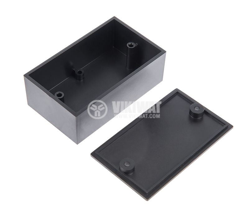 Кутия №3K, пластмасова, черна, 70x42x26mm - 1