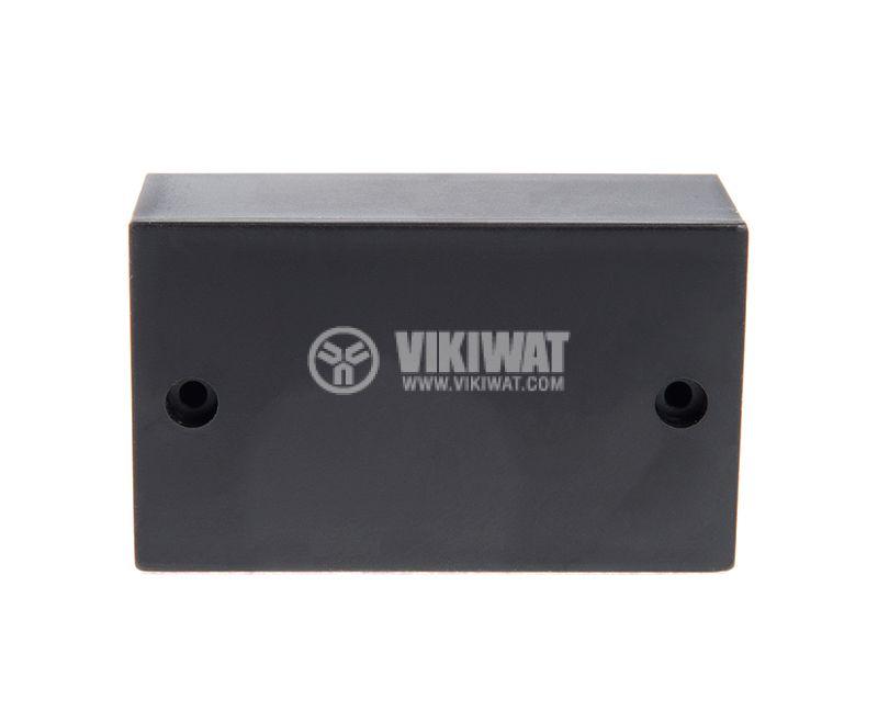 Кутия №3K, пластмасова, черна, 70x42x26mm - 2