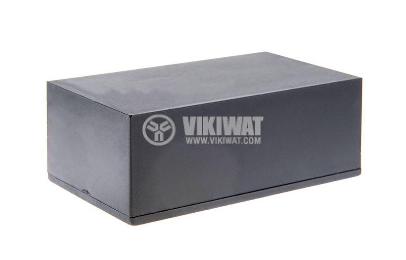 Кутия №3K, пластмасова, черна, 70x42x26mm - 3