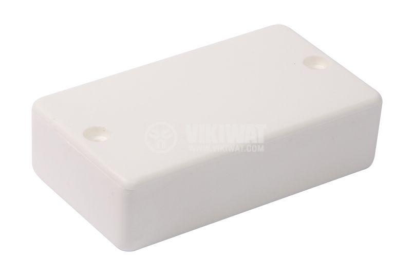 Кутия №10K пластмасова бяла 82x46x22 - 1