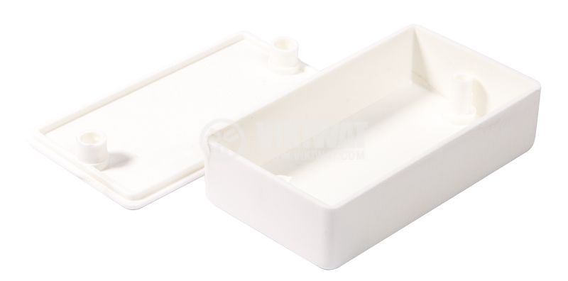 Кутия №10K пластмасова бяла 82x46x22 - 2