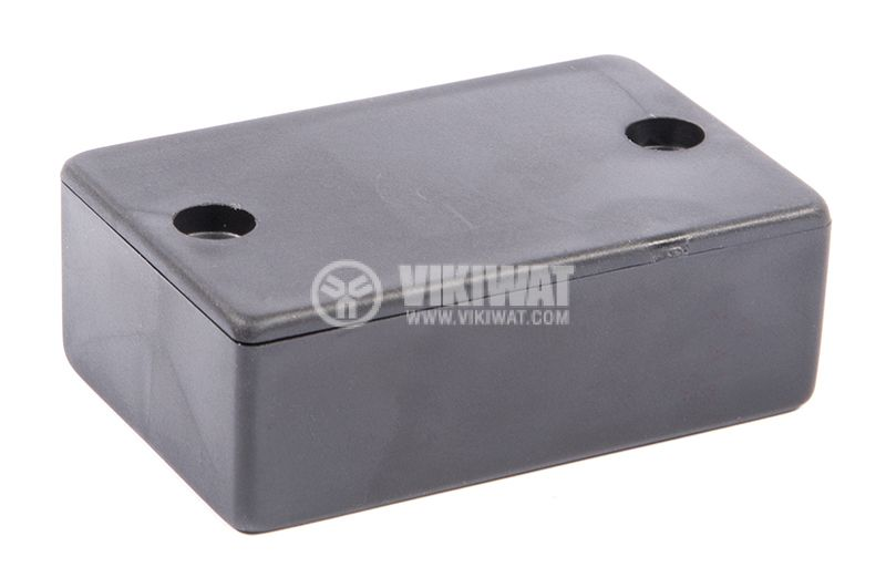 Кутия №9K пластмасова черна 57x36x20 mm. - 1