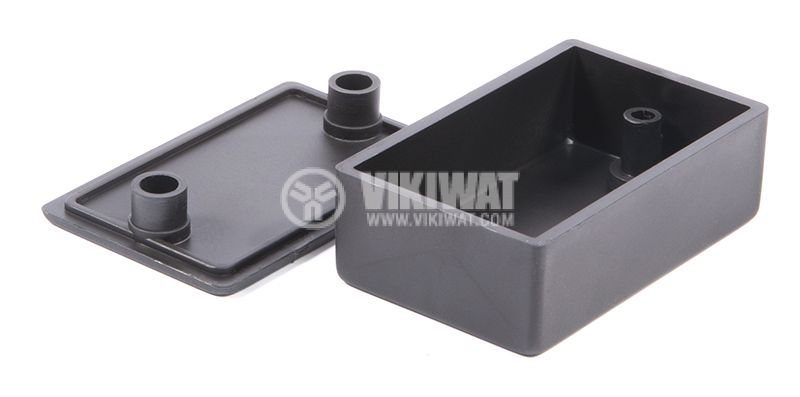Кутия №9K пластмасова черна 57x36x20 mm. - 2