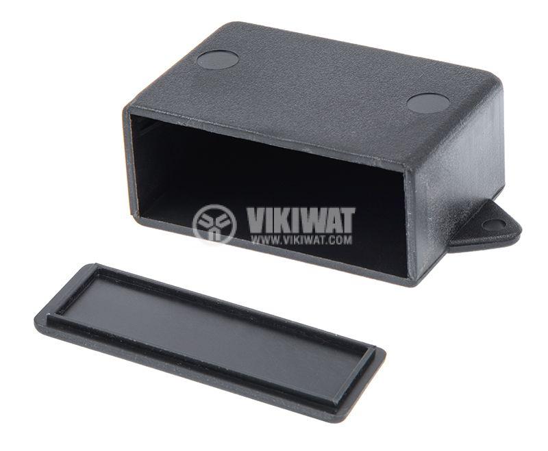 Кутия №79K, пластмасова, 42x60x26mm, черна - 2