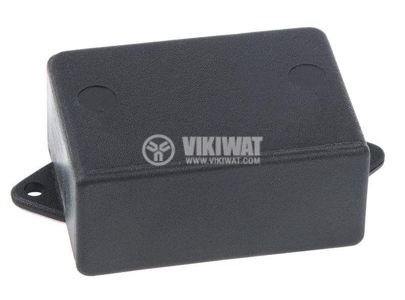 Кутия №79K, пластмасова, 42x60x26mm, черна - 3