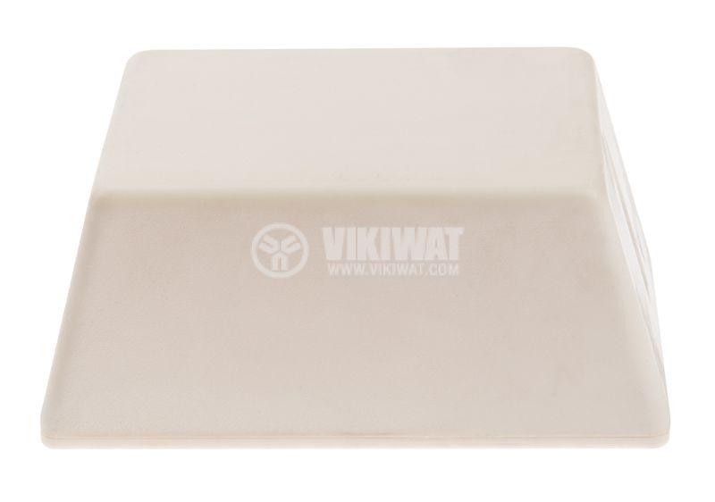 Кутия №4K пластмасова бяла 100x58x46 mm - 1