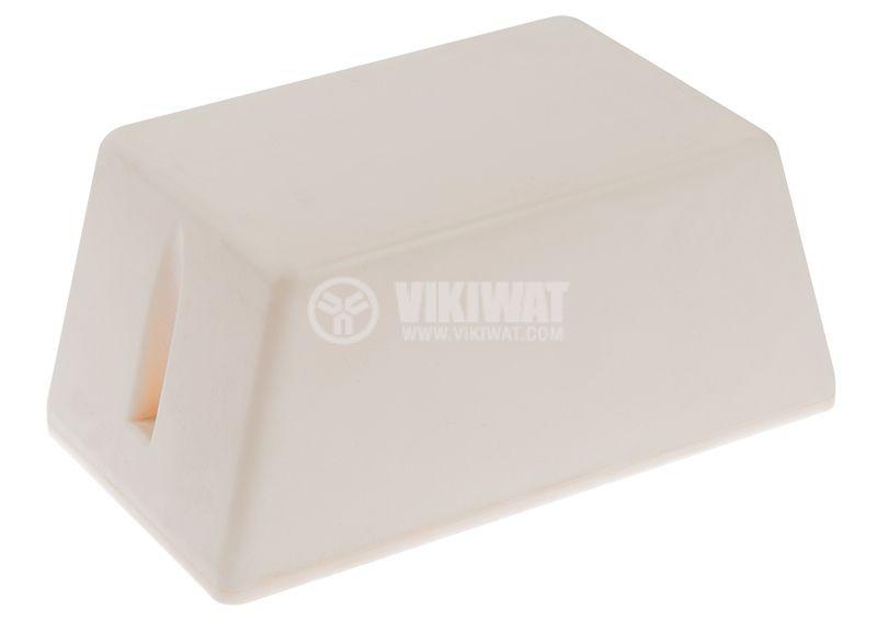 Кутия №4K пластмасова бяла 100x58x46 mm - 2