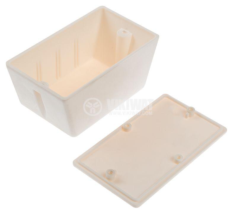 Кутия №4K пластмасова бяла 100x58x46 mm - 3