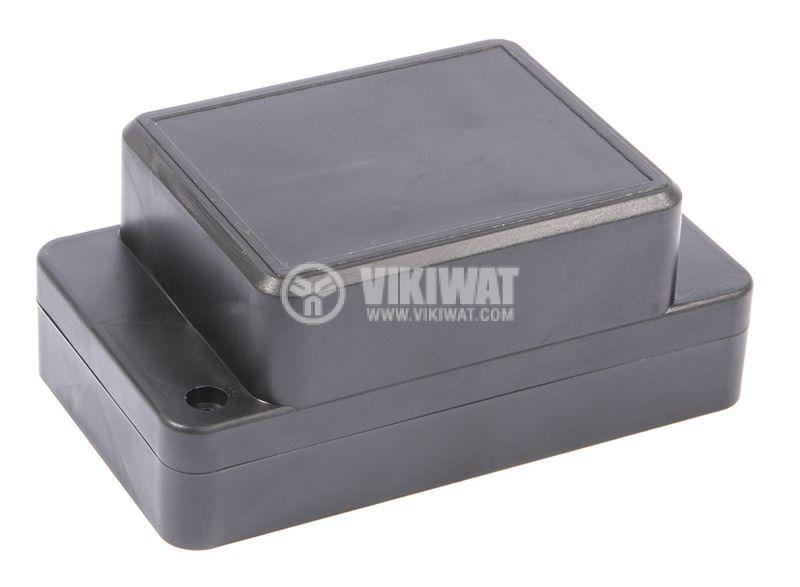 Кутия №15K пластмасова черна 95x92x44 - 1