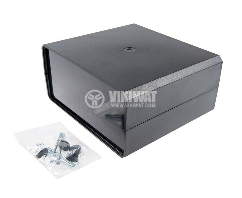 Кутия KM-85 полистирен черна 180x160x85 - 5