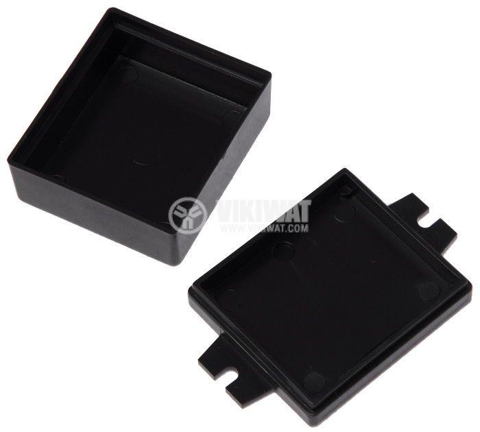 Кутия KM-2 48x42x22 пластмасова черна - 2