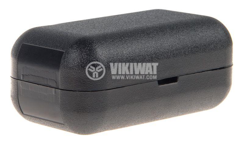 Кутия KM-24, 55x30x24mm, ABS, черна   - 2
