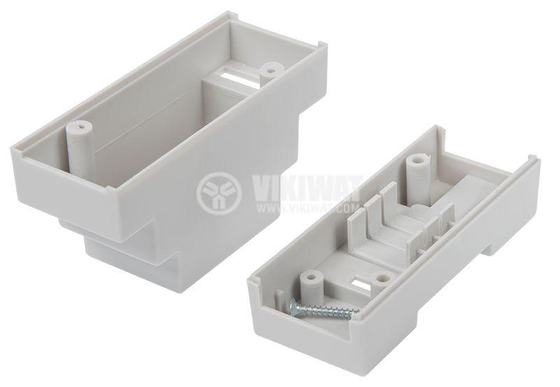 Кутия, пластмасова, 2P, DIN шина, сива, 63х89х35mm, Z-103 - 3