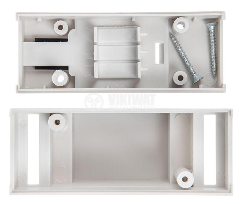 Кутия, пластмасова, 2P, DIN шина, сива, 63х89х35mm, Z-103 - 4