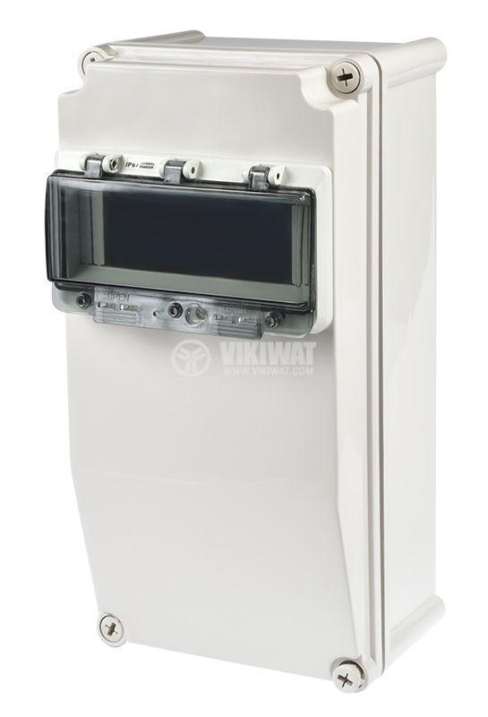Switch box TJ-AGX-3819, 380x190x150mm, IP67, PVC - 1