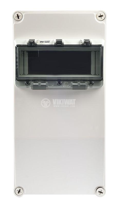 Switch box TJ-AGX-3819, 380x190x150mm, IP67, PVC - 2
