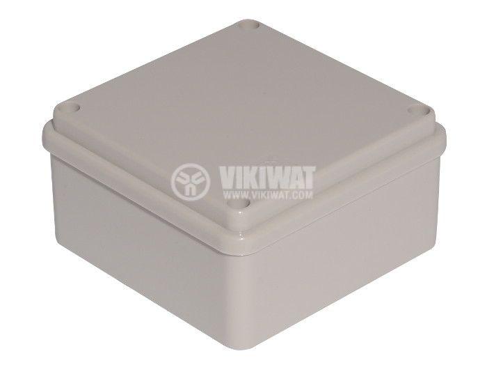 Пластмасова кутия VB-AG-1010, 100x100x50mm, PVC, сива - 1