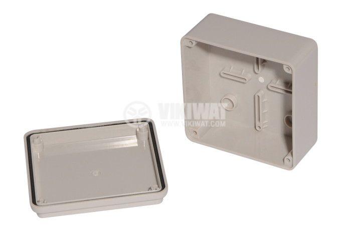Пластмасова кутия VB-AG-1010, 100x100x50mm, PVC, сива - 2
