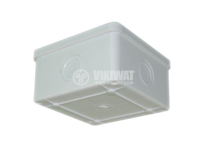 Разклонителна кутия PK85x85x50mm, открит монтаж - 2