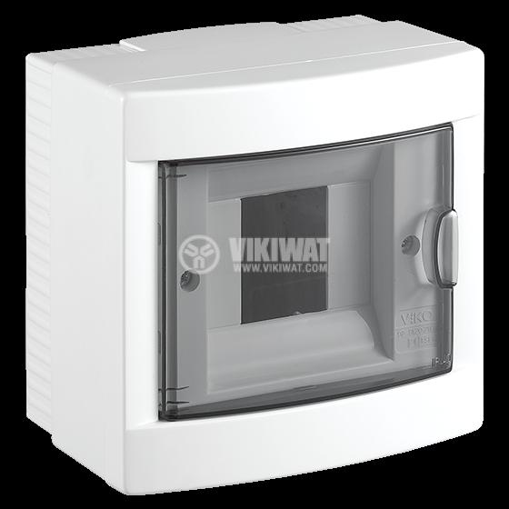 Апартаментно табло, 4 модула, VIKO by Panasonic, за външен монтаж, IP40, влагозащитено, бял цвят, 90912104 - 1