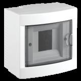 Апартаментно табло, 4 модула, VIKO by Panasonic, бял цвят, 90912104, външен монтаж