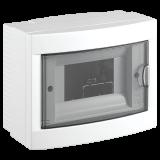 Distribution box, 6 modules, VIKO by Panasonic, white, 90912106, surface mounting
