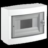 Distribution box, 8 module,  VIKO by Panasonic, white, surface mounting