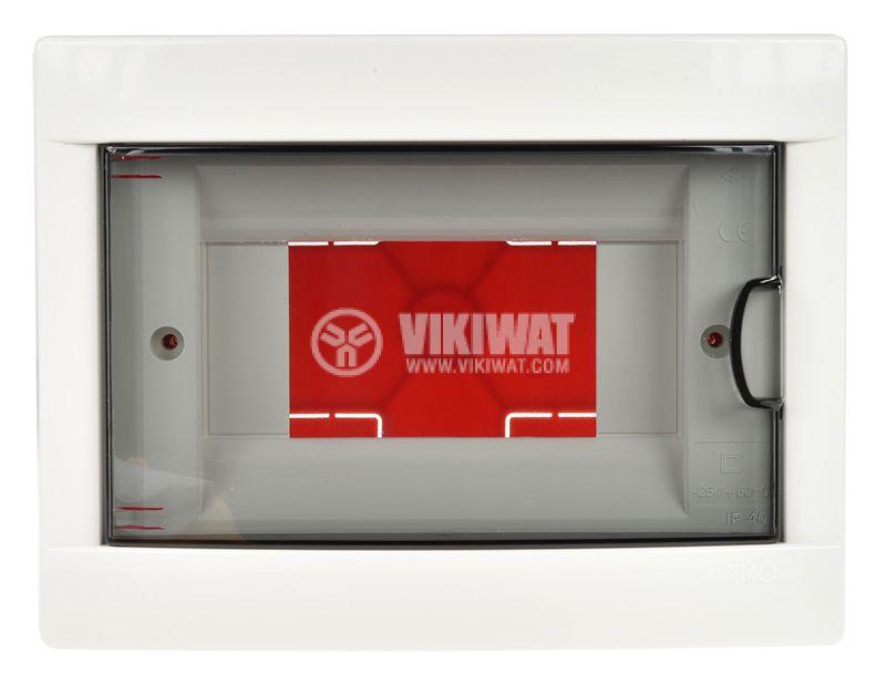 Разпределително модулно табло за вграждане в стена 6 предпазителя VIKO by Panasonic 90912006 - 4