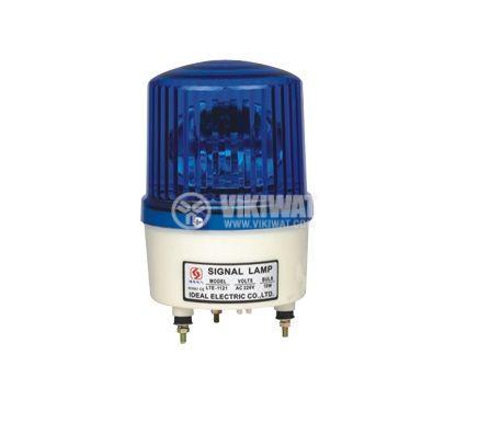 Signal rotating beacon, LTE-1121, 24 VDC, 10 W, blue - 1