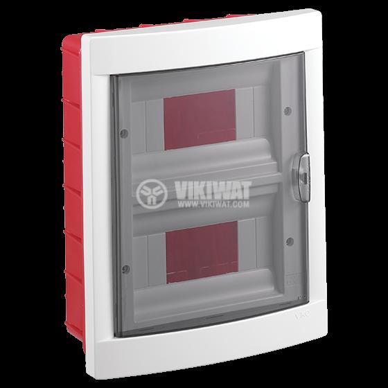 Апартаментно табло, 16 модула, VIKO by Panasonic, IP40, влагозащитено, бял цвят, за вграждане - 1