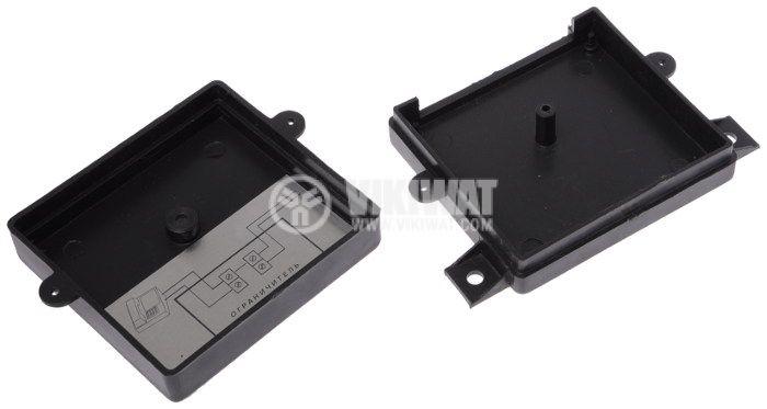 Кутия P4 пластмасова черна 73x67x24mm - 2