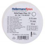 Electrical tape, TEMFLEX, white, 10m, 15mm, 0.13mm - 2