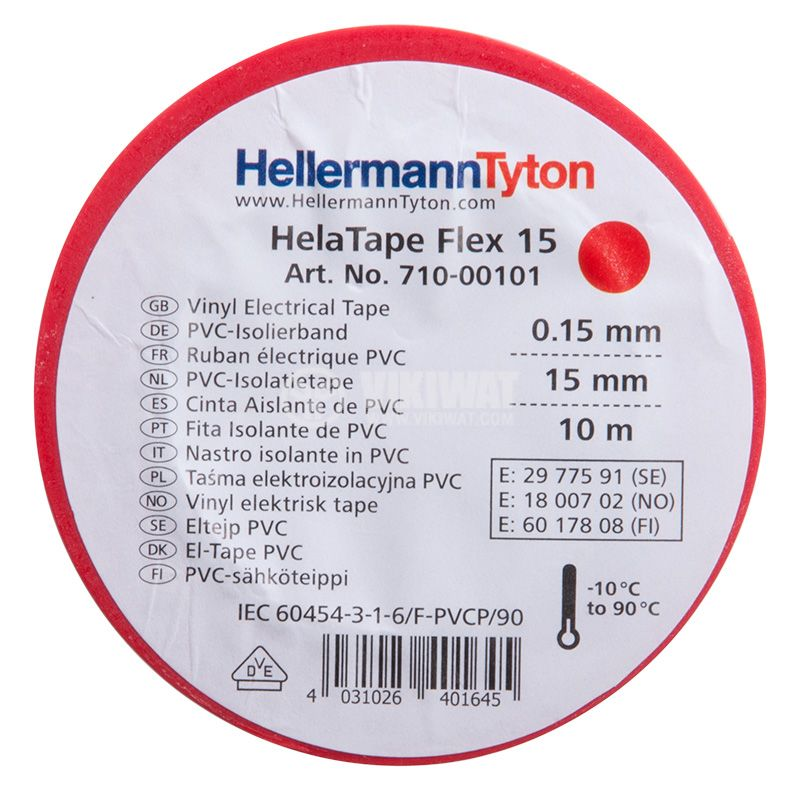 PVC insulating tape, insulating tape, HELATAPE FLEX 15, 15MM X 10M, blue - 2