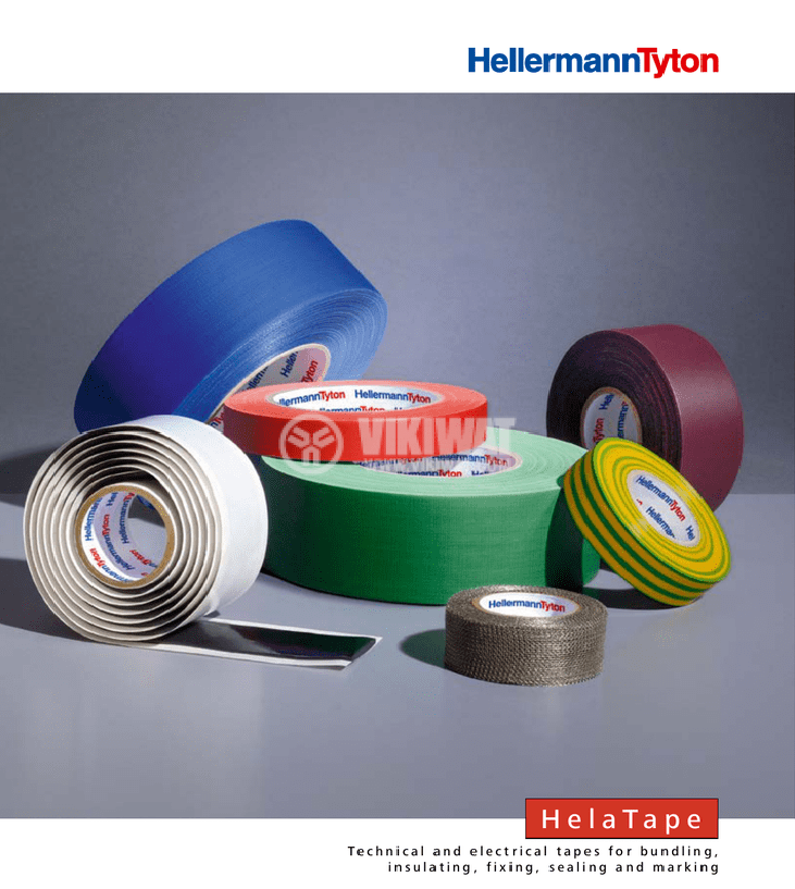 PVC electrical tape, HELATAPE FLEX 15, 15MM X 10M, blue - 3