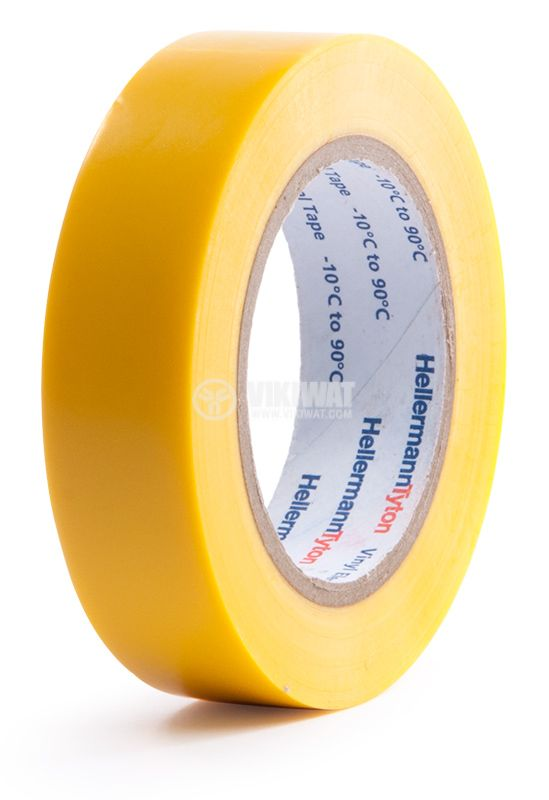 PVC insulating tape, insulating tape, HELATAPE FLEX 15, 15MM X 10M, yellow - 1