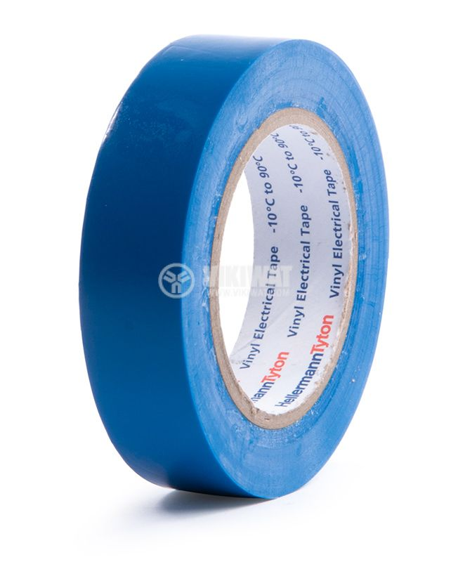 PVC insulating tape, insulating tape, HELATAPE FLEX 15, 15MM X 10M, blue - 1