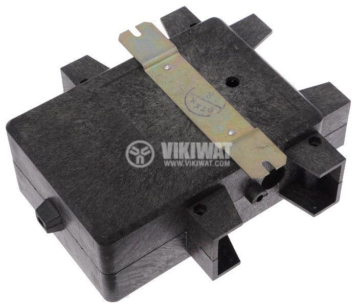 Enclosure box transformers plastic 140x124x50mm, grey - 3