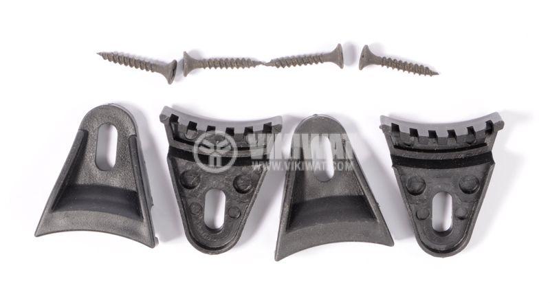 Държач за решетка AT612 PVC комплект 4 бр - 1