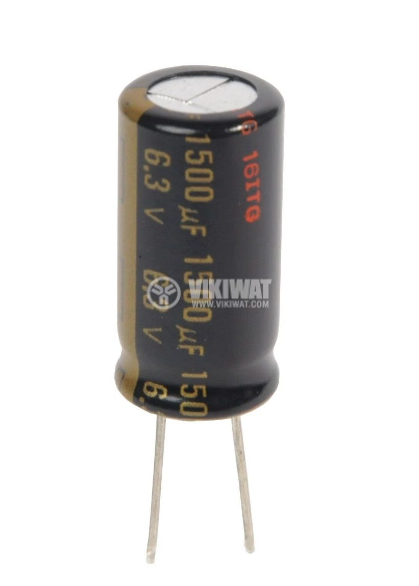 Electrolytic capacitor 6.3V, 1500µF, Ф10x20mm