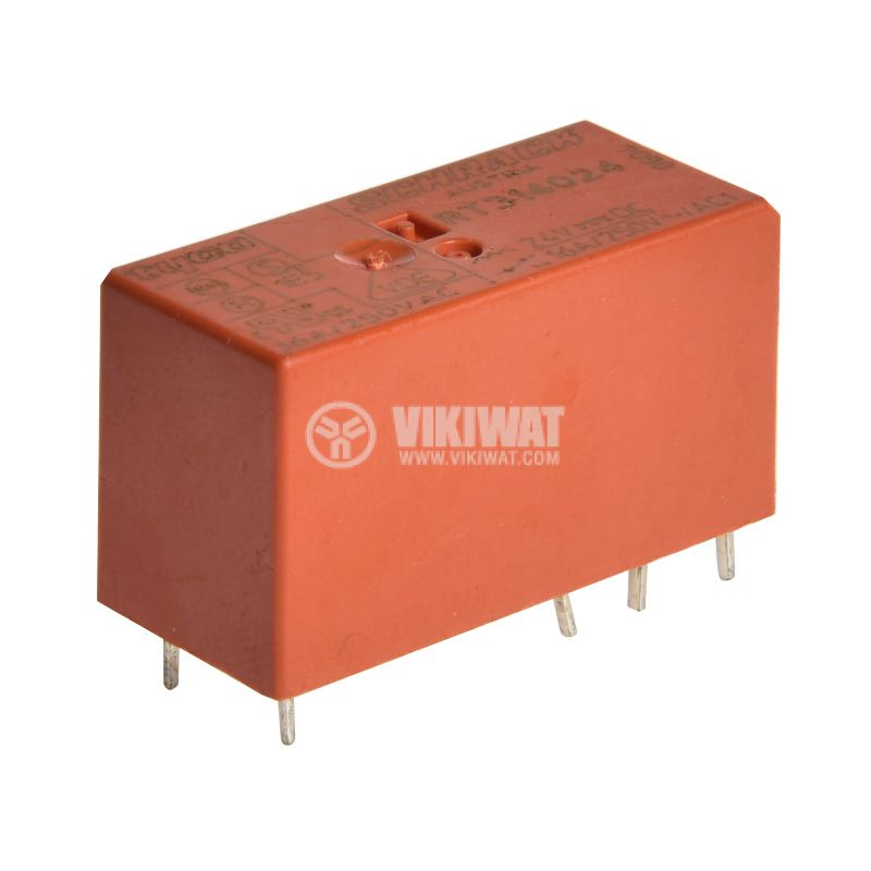 Електромагнитно универсално реле, RT314024, 24VDC,  250VAC/16A, SPDT - NO+NC