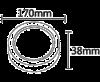 LED панел за обемен монтаж 12W, кръг, 220VAC, 870lm, 3000K, топло бял, ф170mm, BL05-1200 - 2