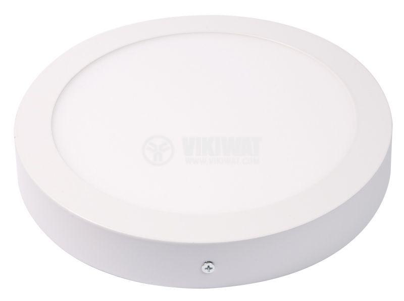 LED панел за обемен монтаж 12W, 220VAC, 3000K, топлобял, ф170mm, BL05-1200 - 6