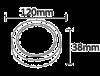 LED panel 6W, round, 220VAC, 350lm, 3000K, warm white, ф120mm, surface mounting, BL05-0600 - 2