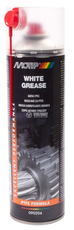 Spray White Grease lubricant with Teflon (PTFE), 500 ml