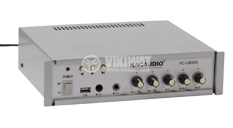 Усилвател за таванни говорители KC-UB50S, 50W, 100V, USB - 1